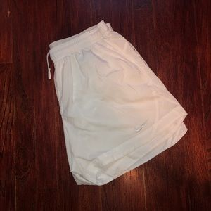 All white nike soccer shorts
